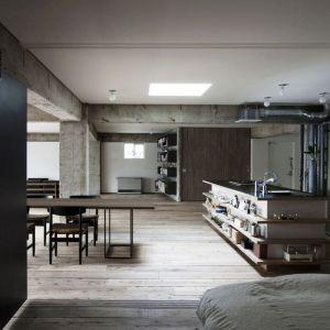 Odkryte elementy instalacji wodnej, wentylacyjnej czy elektrycznej są charakterystyczne dla stylu loft. Fot. Pfleiderer