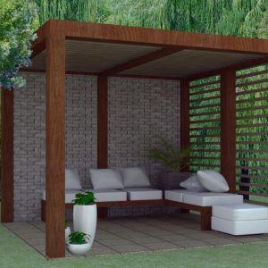 Osoby, które mają większy ogród mogą zdecydować się na budowę altanki ogrodowej. Na rynku jest wiele gotowych modeli. Fot. Jadar