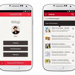 Sercem aplikacji jest mobilny dziennik budowy, w którym można zapisywać notatki, zdjęcia, dokumenty, kontakty i wszystkie informacje związane z budową domu. Fot. mobiDOM