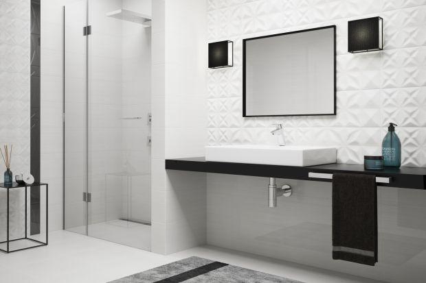 Geometria w łazience. Zobacz modne wzory długich, wąskich płytek