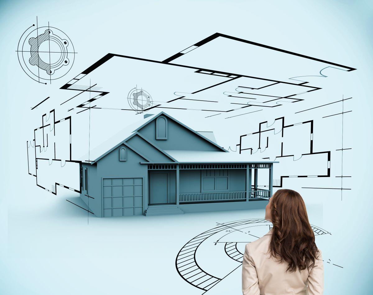 """Jedną z pierwszych rzeczy, o które musimy się zatroszczyć na etapie planowania budowy domu jest znalezienie odpowiedniego projektu lub pracowni, która taki projekt wykona. Możemy zdecydować się na projekt """"gotowy"""" z katalogu (po uprzedniej adaptacji do naszej konkretnej działki) lub zdecydować się na indywidualną współpracę z architektem. Fot. Shutterstock"""