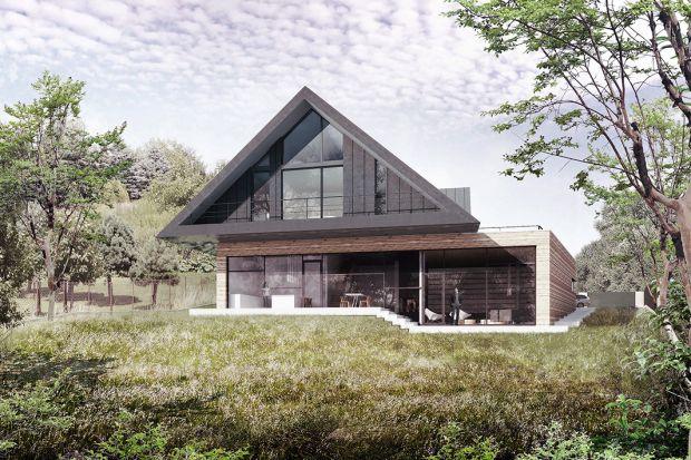 Nowatorski dom autorstwa Bogusława Barnasia z BXB Studio pięknie wykorzystuje topografię terenu, nawiązując jednocześnie do małopolskich tradycji domów podcieniowych.