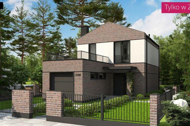 Mały dom piętrowy idealny na wąską działkę 97 mkw