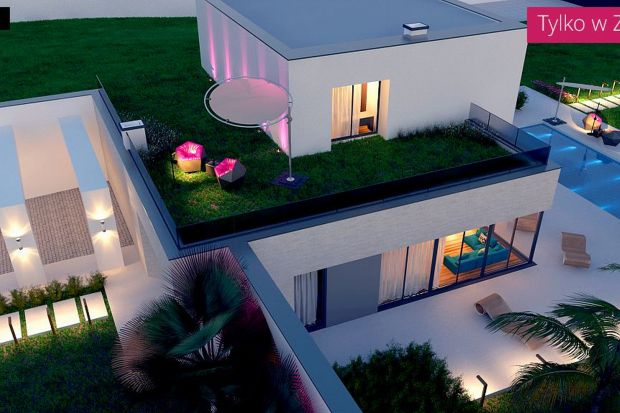 Zx98 to projekt nowoczesnego domu z zielonym płaskim dachem. Stanowi swoistą domową twierdzę; od frontu – zamknięta, niedostępna, owiana mgłą tajemnicy, niewzruszenie chroni sekrety swoich mieszkańców.Willa Zx98 sprosta wymaganiom osób szcz