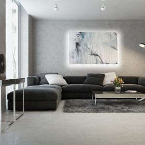Za pomocą odpowiednio dobranego światła można wyeksponować poszczególne elementy pomieszczenia. Idealnie sprawdzi się na przykład obraz wiszący na ścianie. Fot. Activejet