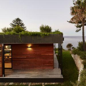 Zielony dach jest swoistą wizytówką tego domu, podkreślając to że mieszkańcy chcą żyć w symbiozie z otaczającą naturą. Fot. Michael Wickham