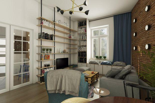 Mieszkanie w starej krakowskiej kamienicy, mała powierzchnia, wysokie stropy. Całość utrzymana w lekkim stylu retro bo była ku temu przednia sposobność: naturalne cegły, łuki, piecyki i tym podobne.