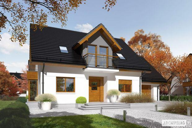 Marisa V G1 ENERGO to doskonałe połączenie tradycyjnej architektury z wyznacznikami nowoczesności. Na elewacji króluje subtelny minimalizm – śnieżnobiały tynk, lukarny w odcieniu szarości oraz ciepłe drewniane detale tworzą zachwycający efek