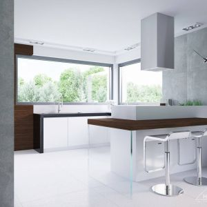 Nowoczesny design okapu idealnie wpasowuje się w stylistykę wnętrza. Fot. HomeKONCEPT