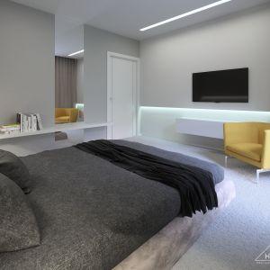 Pomimo nowoczesnego, minimalistycznego stylu sypialnia sprawia przytulne wrażenie. Fot. HomeKONCEPT