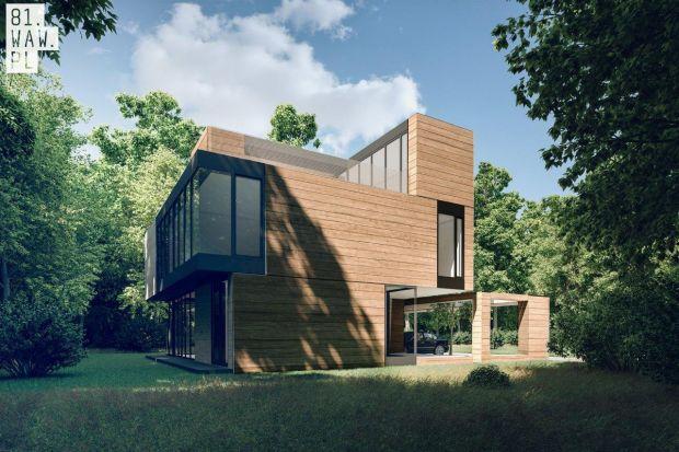 Inspiracją do stworzenia projektu Domu Yenga była otaczająca działkę przyroda, a szczególnie modrzew, który jest głównym elementem elewacji. Nawiązując do popularnej gry, projektanci z pracowni 81.waw.pl tak ustawili bryły budynku, aby wygląd