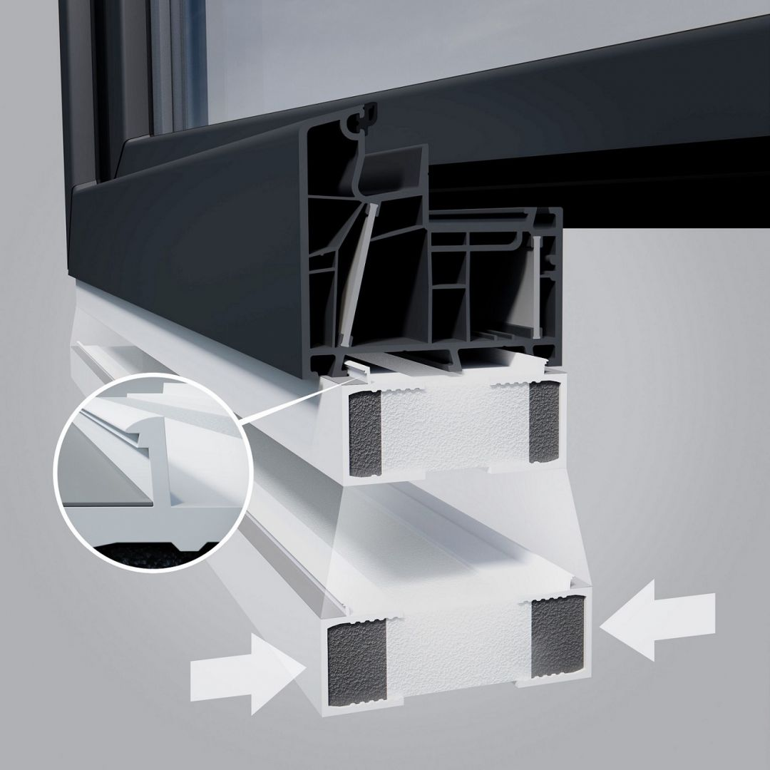 System montażu stolarki w warstwie izolacji. Fot. AIB
