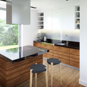 Obecność dużego okna sprawia, że gotowanie w tak zorganizowanej przestrzeni jest prawdziwą przyjemnością. Fot. Archipelag