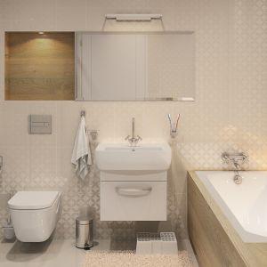 W łazience domu Ambrozja jest miejsce na kabinę prysznicową i wannę. Fot. Biuro Projektów MTM Styl