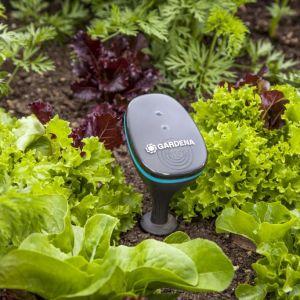 Sensory Gardena zainstalowane w ogrodzie na bieżąco dostarczają użytkownikom dane dot. wilgotności gleby, temperatury w ogrodzie czy natężenia światła. Stanowią one lokalną stację pogodową w twoim ogrodzie. Fot. Gardena