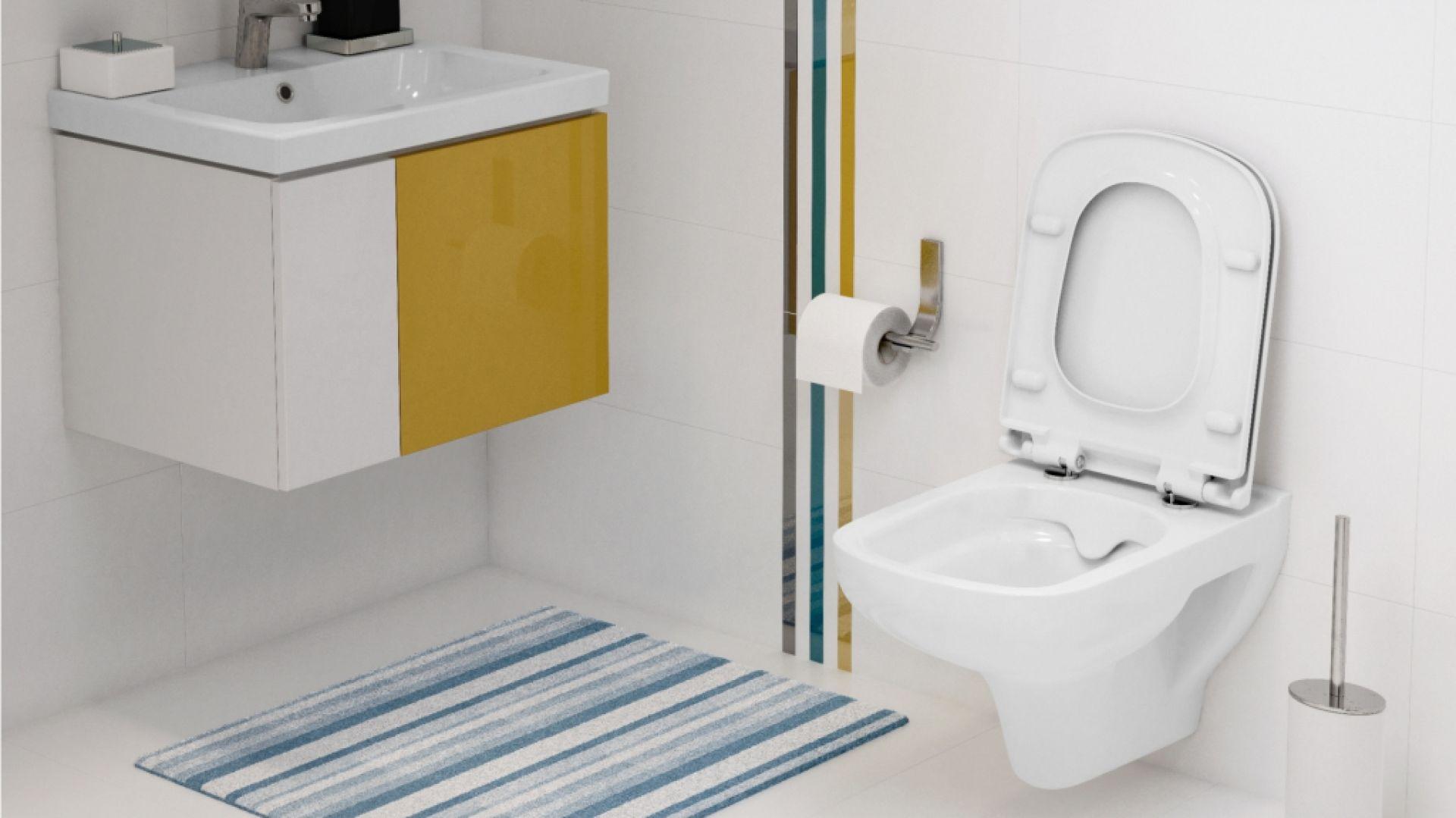 Już na etapie wyboru wyposażenia do łazienki warto zastanowić się nad produktami, które pozwolą zaoszczędzić nasz czas i pieniądze. Ważne jest takie zaaranżowanie przestrzeni, aby uniknąć trudno dostępnych miejsc. Fot. Cersanit