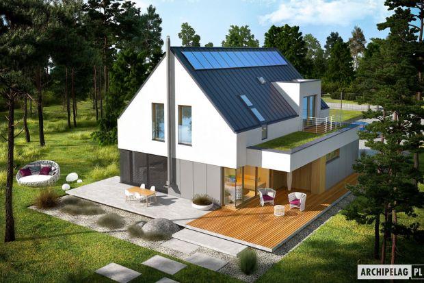Dom Adam G2 ENERG PLUS to nowoczesność, funkcjonalność i przytulny komfort w jednym. Projekt posiada oszczędną formę i znakomicie zorganizowany układ pomieszczeń. Jego dużym plusem są liczne okna, które dbają o swobodny dostęp do naturalnego