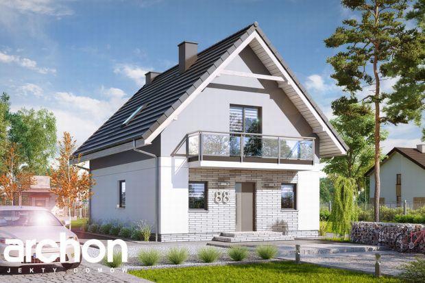 """Prezentujemy projekt """"Dom w Sasankach 3"""", którzy został stworzony z myślą o domach przeznaczonych na wąskie działki. Dom ten to połączenie nowoczesnego stylu z funkcjonalną przestrzenią wewnętrzną."""
