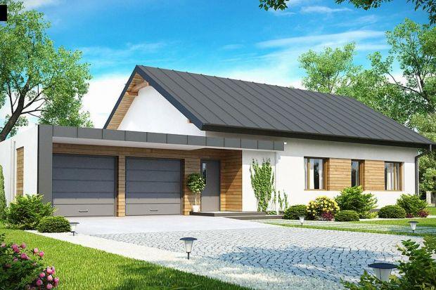 Z182 to dom parterowy we współczesnym stylu. Główną zaletą jest duży garaż dwustanowiskowy z bezpośrednim przejściem do domu oraz możliwość powiększenia o poddasze użytkowe.
