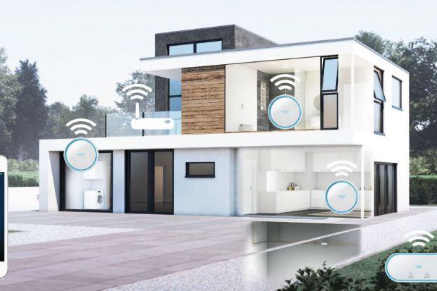 GROHE Sense i GROHE Guard to najnowsze innowacyjne rozwiązania stworzone do inteligentnych domów. Czujnik wody GROHE Sense monitoruje poziom wilgotności, wykrywa przecieki i wysyła powiadomienia w wypadku wystąpienia problemu, podczas gdy zainstalowa