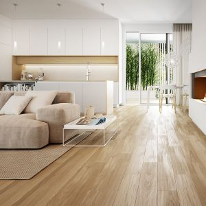 Koncept Wood to piękne wrażenie naturalnego drewna na naszej podłodze, przy zachowaniu wszystkich praktycznych walorów płytek ceramicznych. Fot. Opoczno