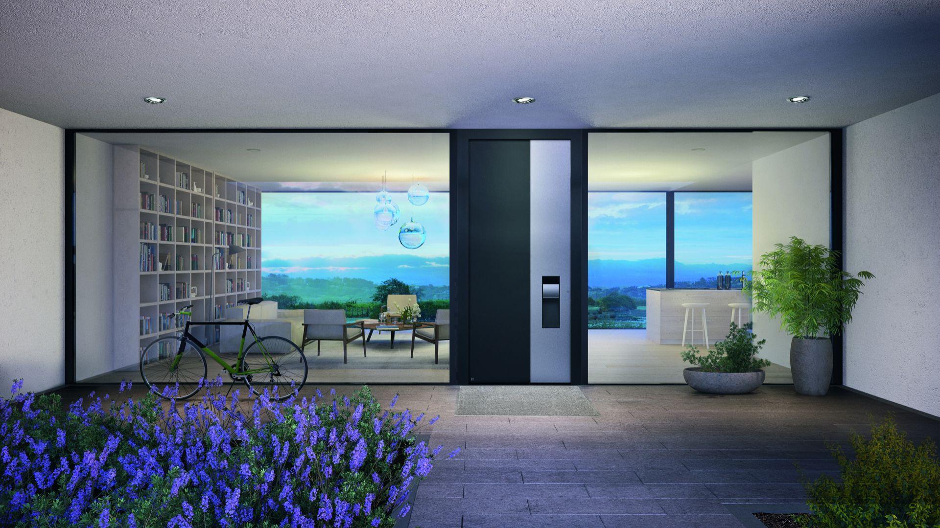 Najlepsze – ThermoCarbon – z płytą blatu o grubości 100 mm – prawie dwukrotnie przekraczają poziom wymagań stawianych drzwiom w domach pasywnych. Fot. Hörmann