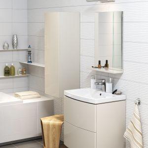 Pamiętajmy, że im więcej widać posadzki, tym większe wydaje się pomieszczenie. Ponadto taki montaż pozwala ukryć w ścianie zbiornik spłukujący i instalację wodno-kanalizacyjną. Fot. Cersanit
