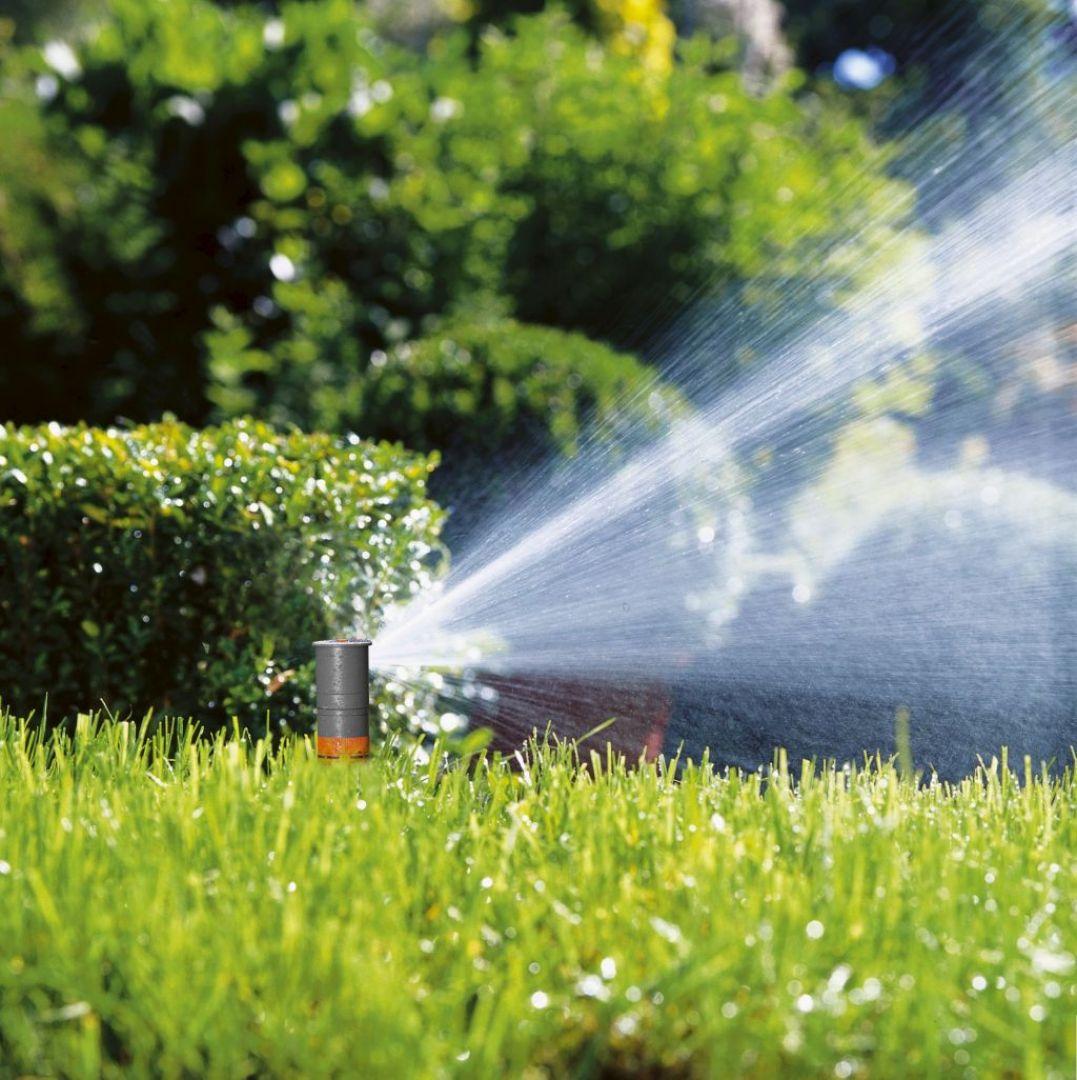 Jeżeli w ogrodzie posiadamy wrażliwe rośliny, w takich kompletny system, który oceni warunki atmosferyczne i dobierze do nich intensywność nawadniania. Automatyczne technologie potrafią to robić samodzielnie, na kilka sposobów. Fot. Gardena