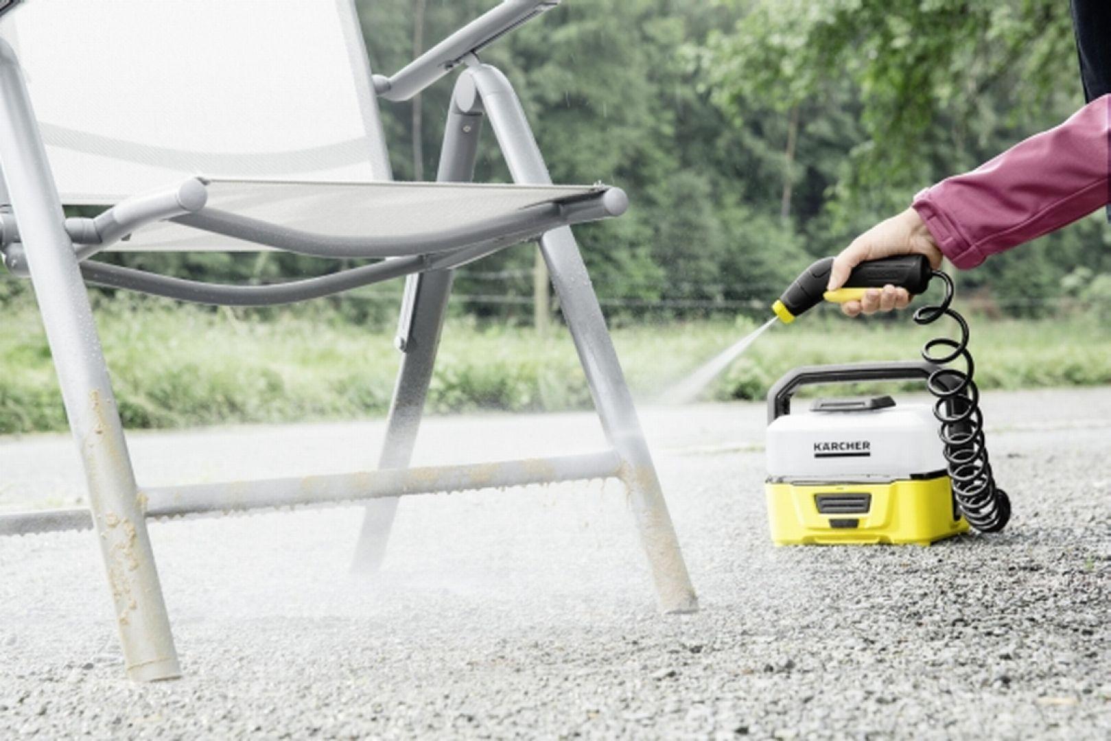 Myjka terenowa jest przeznaczona do czyszczenia rowerów, wózków dziecięcych, motocykli  Fot. Kärcher
