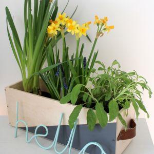 Gotowe! Możesz umieścić w skrzynce kwiaty i zioła. Fot. Bosch