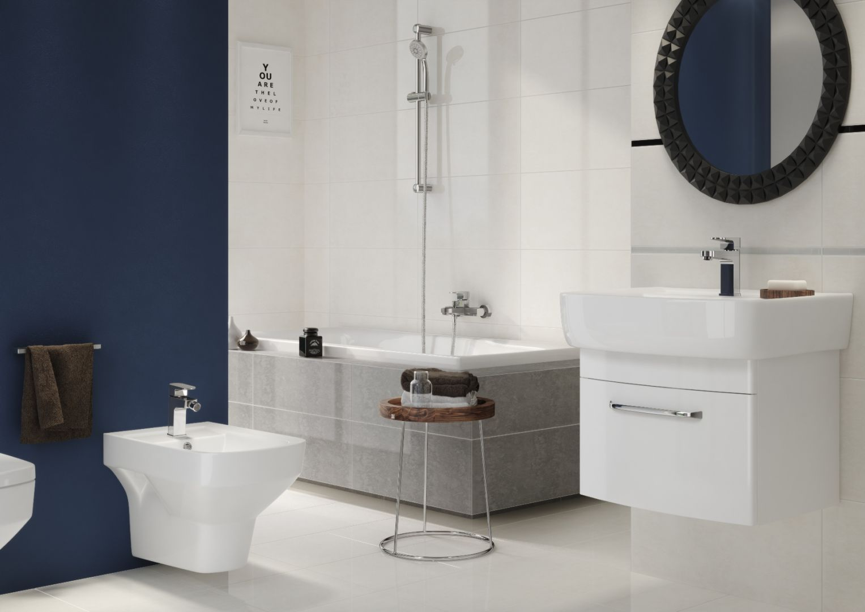 Każda łazienka może być dziś projektowana pod kątem oszczędności oraz ekologii; nie ma znaczenia, czy projekt dotyczy prywatnego pomieszczenia, czy budynku użyteczności publicznej. Fot. Cersanit