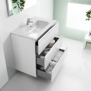 Minimalistyczne wzornictwo, najwyższa jakość wykończenia oraz bogata gama rozmiarów sprawiają, że jest to propozycja  zarówno dla dużych salonów łazienkowych, jak i łazienek o niewielkich rozmiarach. Fot. Roca