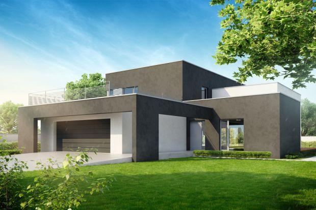 Oryginalny D7 to projekt nowoczesnego, piętrowego domu z płaskim dachem. Przyciąga uwagę, oryginalną i nowoczesną bryłą, w której zaprojektowano komfortową przestrzeń do życia 5 osobowej rodziny.