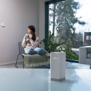 Firma F-Secure, dostawca rozwiązań z zakresu cyberbezpieczeństwa, przedstawia autorskie urządzenie o nazwie Sense, które ma za zadanie chronić inteligentne domy. Fot. F-Secure