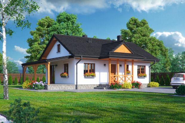 Zawoja DWS 17T to projekt parterowego domu w konstrukcji szkieletu drewnianego.