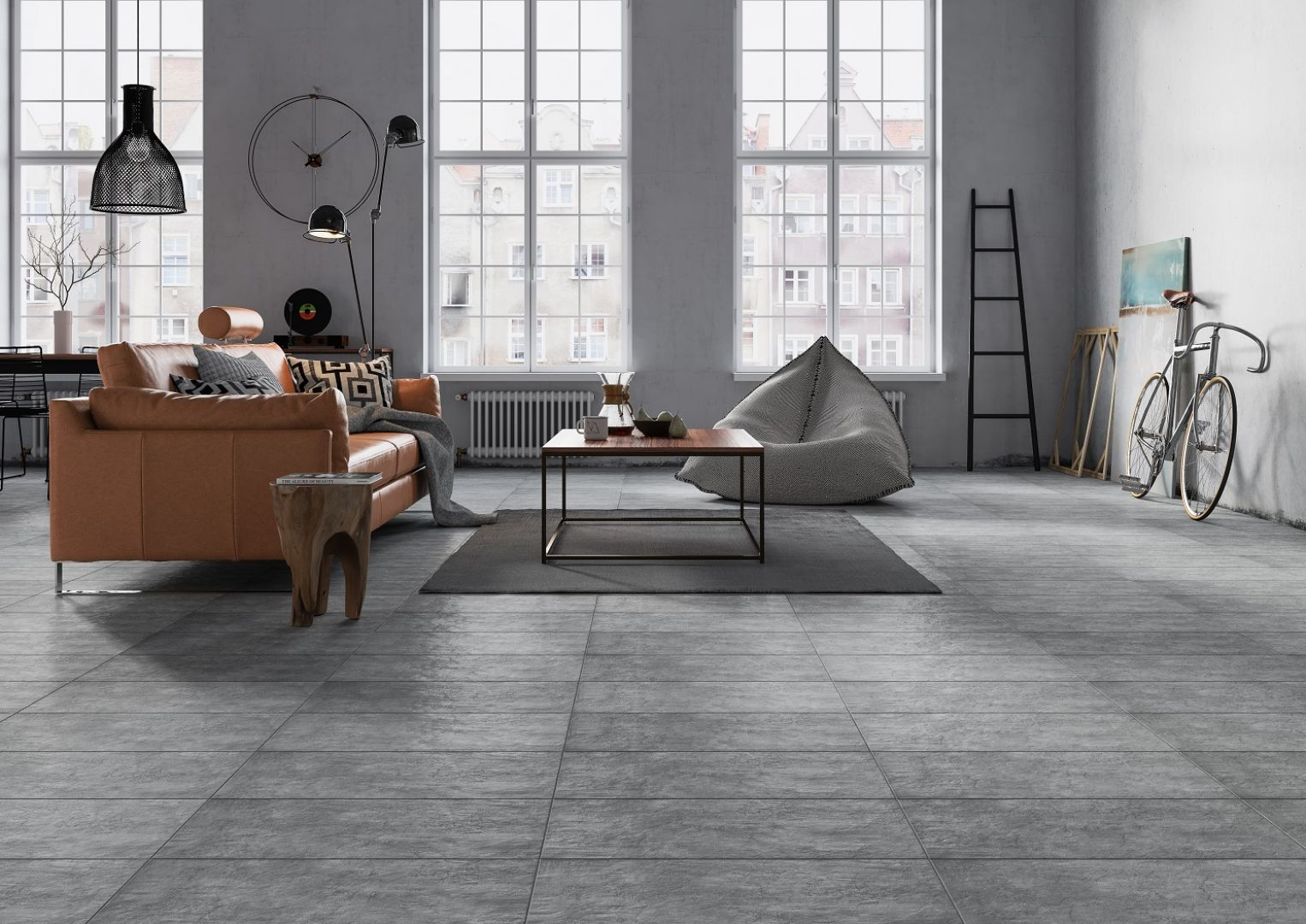 Wnętrza o zimnym i czasem dość niekonwencjonalnym stylu industrialnym mogą być jednocześnie bardzo funkcjonalne i przyjazne w użytkowaniu, również w pomieszczeniach o niewielkim metrażu. Fot. Opoczno