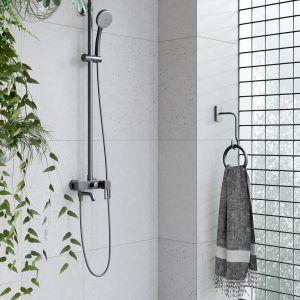 Do łazienki w surowym, industrialnym stylu idealnie pasować będą meble Splendour marki Opoczno. Fot. Opoczno