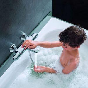 Dzięki specjalistycznym technologiom Grohe, luksus odkrywa nowe oblicze. Odtąd każda łazienka może stać się miejscem bezpiecznym, funkcjonalnym i komfortowym, gdzie bez obaw oddamy się czystej przyjemności.  Fot. Grohe