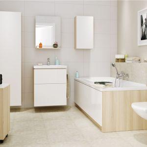 Wybierając wannę do łazienki, należy dobrze oszacować, jak dużą przestrzeń mamy do wykorzystania. Trzeba wziąć pod uwagę nie tylko samo miejsce na wannę, lecz także odległości od sąsiadujących sprzętów. Fot. Cersanit