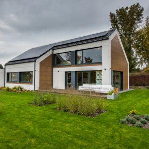 Niewątpliwą zaletą domu H5 jest ciekawa bryła, która kryje w sobie bardzo funkcjonalne wnętrze. Fot. Multicomfort, EcoReadyHouse