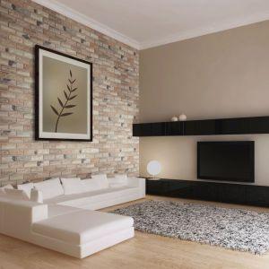 Estetyka cegieł i ręcznie wykańczana struktura załamuje światło na ścianie i pomaga osiągnąć trójwymiarowy efekt. Fot. Elastolith