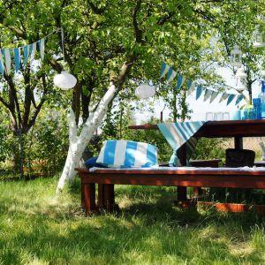 """Bondex we współpracy z autorkami bloga """"Pani to potrafi"""" prezentuje sprawdzony sposób na to, jak zbudować drewniany stół ogrodowy. Fot. Bondex"""