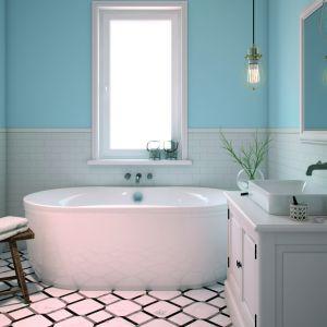 azienka skąpana w nastrojowych tonach błękitu to miejsce w sam raz na odprężenie. Kolor Sea Breeze z palety Beckers Designer Kitchen & Bathroom niczym niezmącona tafla wody pozwoli uspokoić emocje i zanurzyć się w świecie marzeń. Fot. Beckers