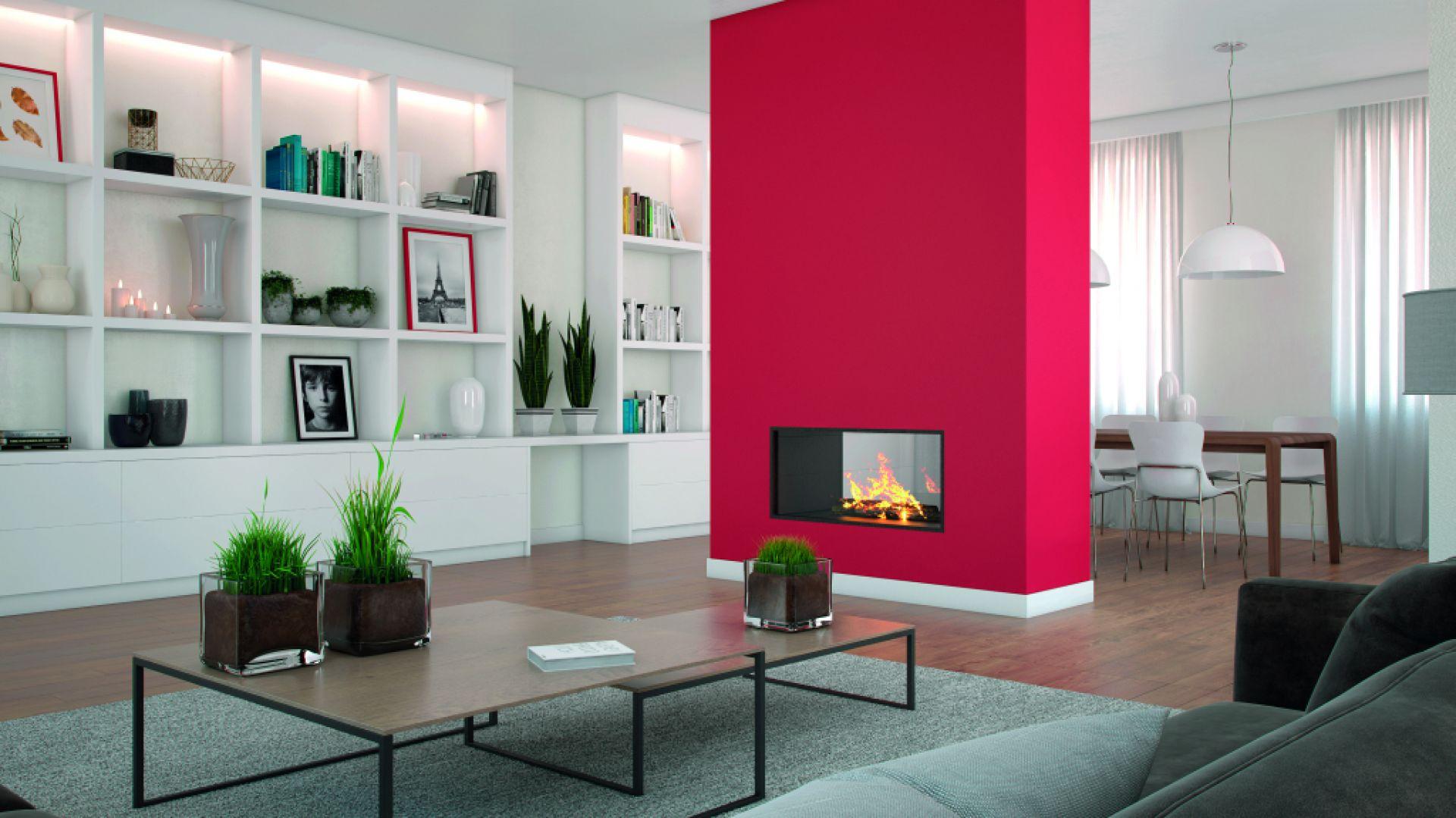 Fani odważniejszych stylizacji mogą przełamać szarość Tender gorącym odcieniem Red Deluxe, tworząc w ten sposób salon, który będzie tętnił radością. For. Beckers