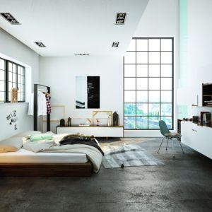 Ponadczasowe szarości na ścianach to z kolei skuteczny sposób, by podkreślić reprezentatywny charakter salonu. For. Beckers