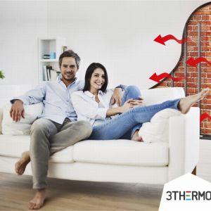 Ogrzewanie ścienne daje tę przewagę nad systemami konkurencyjnymi, że w tym przypadku układ zostaje umieszczony w ścianie, czyli w miejscu, które z reguły jest najbardziej podatne na rozwój pleśni i grzybów. Gdy ściana zamienia się w aktywną przegrodę termiczną, problem pleśni znika. Fot. 3Thermo