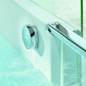 Korpus, cokół oraz obudowa Shower&Bath są wykonane z innowacyjnego materiału DuraSolid, który pozwala kształtować smukłe, delikatne krawędzie a w dotyku jest wyjątkowo ciepły i przyjemny. Fot. Duravit