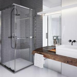 W aranżacji tego typu można postawić na użycie umywalek o niestandardowych kształtach lub wymiarach. Fot. Koło