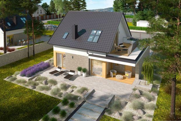 Mały, energooszczędny i tani dom z 2 tarasami 99 mkw. Zobacz projekt!