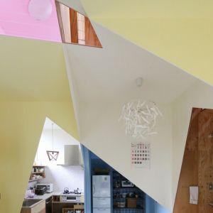 Nawet drzwi nie mają typowych kształtów. w tym dziwnym domu. Fot. Kazuyasu Kochi